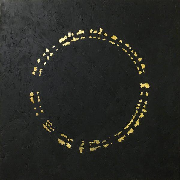 Rollright Gold original art - gold leaf board