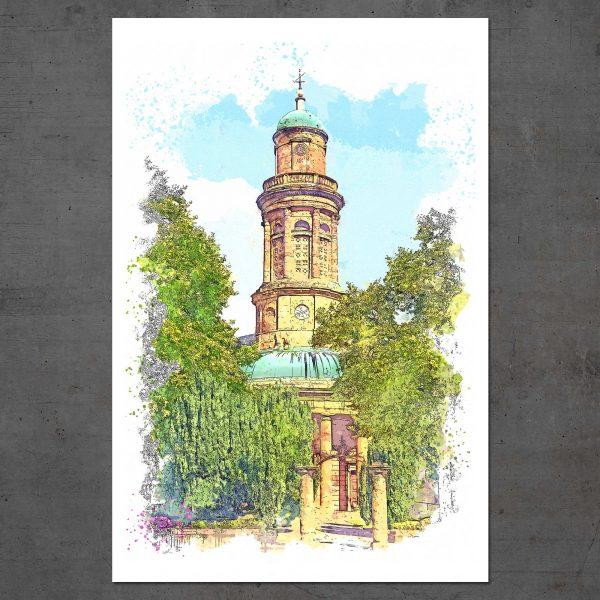 'St Mary's Church' Art Print