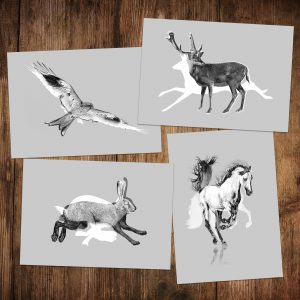 A5 Postcards - Silhouettes Series